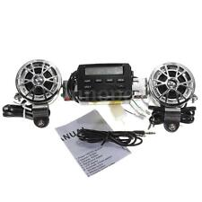 FM Radio MP3 iPod Motorcycle Bike ATV Stereo Sound Audio System Player Speakers