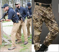 7209 Men Military Camo Cargo Pants Army Fatigue Hiking Tactical Combat Trousers