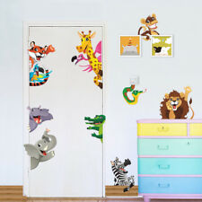 Animal Forest Jungle Welcome Play Hide & Seek Wall Sticker Kid Room Decor Decal