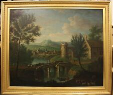 Fine Large 19th Century Dutch Landscape Antique Oil Painting