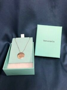 """Tiffany & Co Sterling Silver .925 18"""" Necklace Initial Monogram T DS02"""
