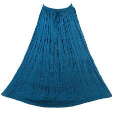 Bohemian Tier Long Skirt Boho Hippy Hippie Gypsy Blue-Green XS-XL sk167st