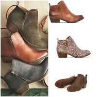 Women's Ladies Zipper Boots Chunky Heel Ankle Booties Faux Suede Casual Shoes GS