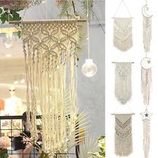 Macrame Woven Tapestry Wall Hangings Handmade Bohemian Art Craft Home Room Decor
