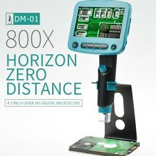 800X USB Digital Microscope 5.0MP 4.3 Inch Video Screen PCB Cell Phone Repairing