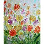 SPRING Symphony of TULIPS Original Oil Painting Modern Canvas Art Luiza Vizoli