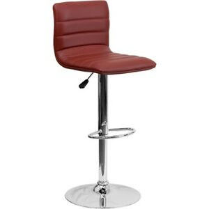 Flash Furniture Burgundy Contemporary Barstool, Burgundy - CH-92023-1-BURG-GG
