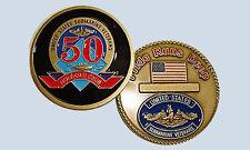 Holland Club Submarine Veteran 50 Years Qualified Coin USS SSN SSBN USN USSVI