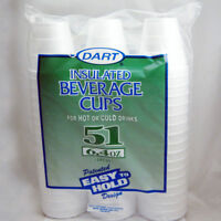 51 Styrofoam 6oz Disposable Coffee Cups Hot Cold Drinking Beverage Insulated