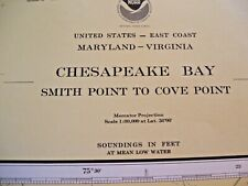 VINTAGE  CHESAPEAKE BAY NAVIGATIONAL MAP CHART NO. 12230