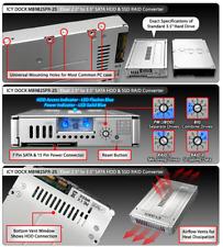 "Icy Dock MB982SPR-2S dual drive RAID enclosure, fits standard 3.5"" HDD slot! SSD"