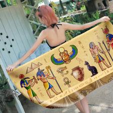 Egyptian Culture Fresco God Goddess Eye of Horus Swim Bath Beach Towel Blanket