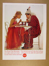 1963 Coke Coca-Cola cute couple costumes teens date photo vintage print Ad