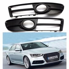 Pair Front Bumper Lower Fog Light Grille For Audi A4 B7 A4 Quattro S4 2007-2009