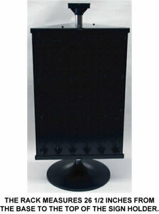 Counter Top Peg Board Spinner Rack Display 3 Sided with Hooks Black