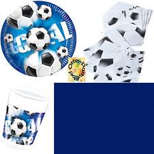 Fußball Football Goal Partyset 41tlg für 10 Kinder Teller Becher Servietten ...