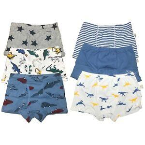 6Pack Toddler Kids Little Boys Cotton Underwear Boxer Briefs Size 4T 5T 6T 7T 8T