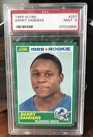 Barry Sanders Rookie Card PSA 9 1989 Score # 257 MINT