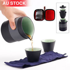 Portable Travel Tea Pot Set Chinese Kung Fu Ceramic Infuser Teapot Cups W/ Bag