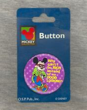 NEW-ON-CARD Mickey Mouse Unlimited Good Looking Pin - One Stop Publishing 1990s