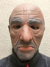 Máscara De Hombre Blanco realista viejo macho Gangster Mafia Halloween Disfraz Látex