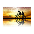 Photo Mock Up Silhouette Sunset Tandem Bicycle Framed Wall Art Print