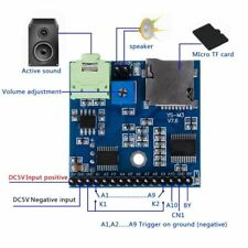 MP3 Voice module SD/TF voix Broadcast Trigger Player + Haut-Parleur F SCM MCU UI