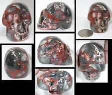 ~Awesome!~ 1 of a Kind CRAZY LACE AGATE Crystal Skull w/ Cool VUGS! S15186