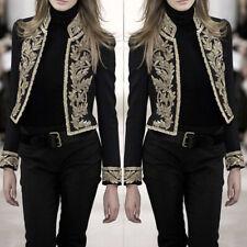 Women Retro Steampunk Victorian Gothic Short Coat Jacket Medieval Vintage Blazer
