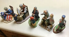 Set Of 5 Norman Rockwell Collectible Figurines