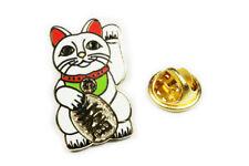 Maneki Neko Lucky Cat Japanese Talisman Tie Tack Lapel Pin