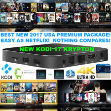 NEW 4K Android TV Box 2017 Premium Package Watch Anything Easy Better Firestick!