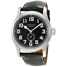 Longines Heritage Miltary Black Leather Automatic Mens Watch L28114530
