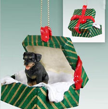 ROTTWEILER DOG CHRISTMAS GIFT BOX ORNAMENT HOLIDAY Present giftbox