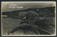 ME Maine RPPC '20s LIBBY'S SEAFOOD FISHING Lobster Boats UNDER TOW One of a Kind
