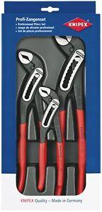 Knipex 00 20 09 V03 3 Piece Alligator Water Pump Plier Slip Joint Grip Set