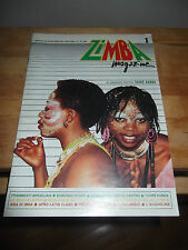 ZIMBA MAGAZINE N. 1 MARZO/APRILE 1988 NO POSTER