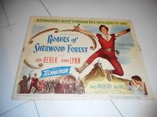 1950 MOVIE LOBBY CARD #4-1992 ROGUES OF SHERWOOD FOREST - JOHN DEREK
