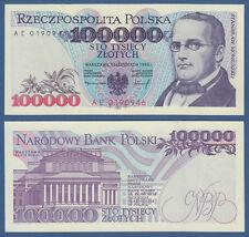 POLEN / POLAND 100.000 Zlotych 1993 UNC  P.160