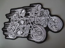11.8'' inches large Embroidery Patches for Jacket back Speed Race Biker