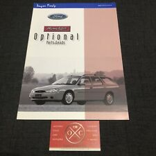 Ford Mondeo Brochure Japanese Catalog 1999 98 97 96 2000 01 02 Accessories Rare