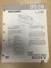 s l225 sony cfs in manuals & resources ebay  at soozxer.org
