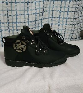 Jeep Men's black/ Low Ankle Casual Boots_Size 10W leather/waterproof .