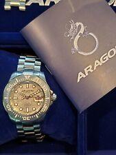 Men's Aragon Divemaster Meteorite 2824 A331 Automatic Watch 45mm Full Kit RARE