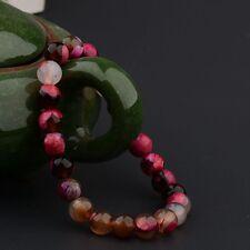 New Multi Colour Beaded Cuff Charm Bangle 8mm Natural Stone Fashion Bracelet