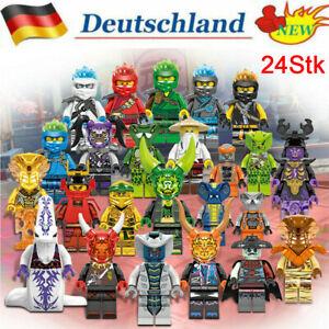 24 Stk Ninjago Mini Figuren Kai Jay Sensei Wu Master Building Blocks Set Toys DE
