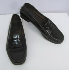 TOD'S LOAFERS DRIVING SHOES DARK BROWN PATENT LEATHER SIZE 36 1/2