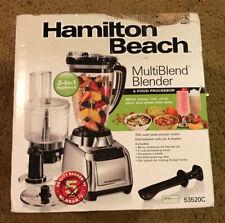 New Hamilton Beach MultiBlend Blender & Food Processor silver 53520C