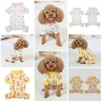 Pet Dog Pajamas Jumpsuit Sleepwear Puppy Cute  Soft Cartoon Pattern Clothes