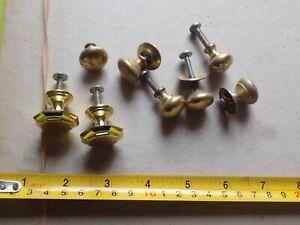 Vintage  job lot small brass cupboard door knobs